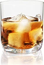Vivocci Unbreakable Tritan Plastic Rocks 12.5 oz Whiskey & Double Old Fashioned Glasses | Thumb Indent Base | Ideal for Bo...