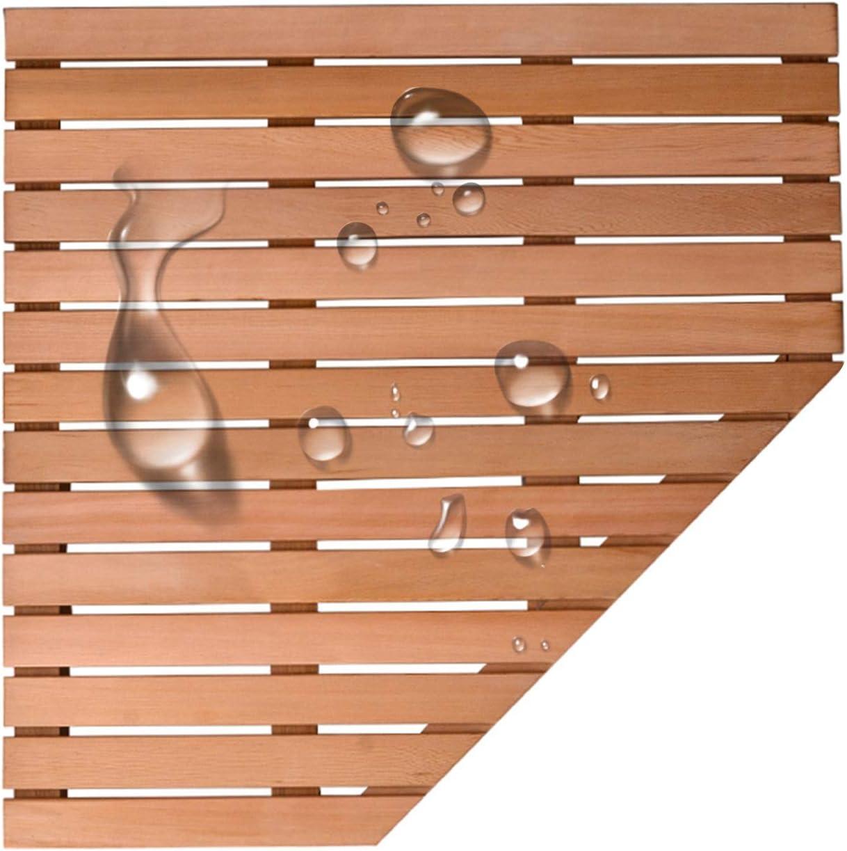 JIAJUAN Cheap bargain Natural Wood Safety and trust Shower Bath Non-Sli Foot Kitchen Pedal Mat