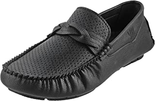 Walkway Men Black Synthetic Loafers (17-9092)