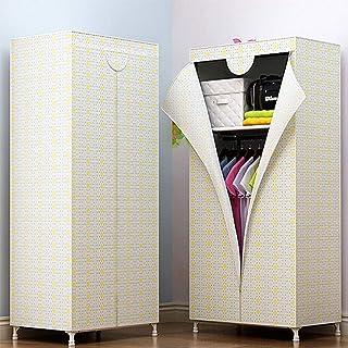 JLKDF Armoire en Toile Armoire en Tissu Simple avec boîtes, Organisateur de Rangement de vêtements de Placard de Meubles e...
