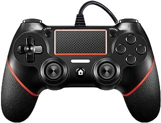 PS4有線コントローラー Zessisy ゲームパッド DualShock 4、プレイステーション4用デュアルバイブレーションゲームパッドコントローラプレイステーション3とウィンドウズ