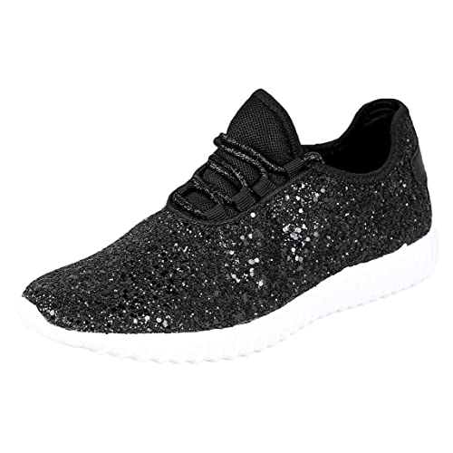 Forever Link Women s REMY-18 Glitter Fashion Sneakers a7416b7891f