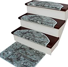 Stair Carpet Pads Stair Treads Adhesive Stair Pads Non Slip Stair Covers Durable Polypropylene edging 5 Piece (Color : Gre...