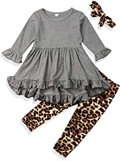 Toddler Girl Clothes Long Sleeves Shirt Top Trousers Pants Set Toddler Clothes for Girls