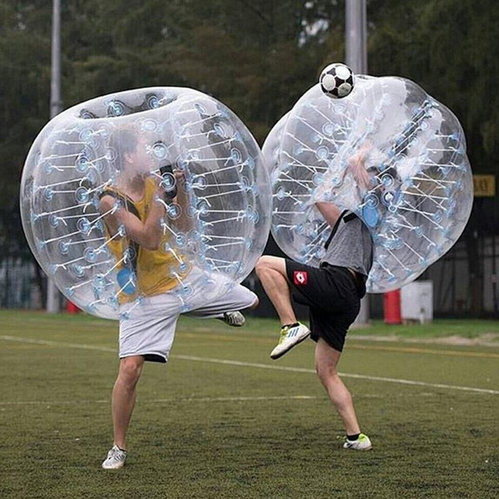 stagersoccer® Pelota hinchable de parachoques Bubbler balón de fútbol para las escuelas partes empresa de alquiler de actividades 1 por caja (transparente, 1,5 m): Amazon.es: Deportes y aire libre