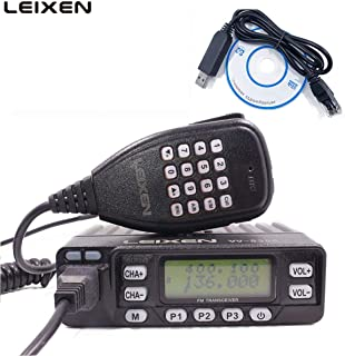 LEIXEN VV-898S Dual Band VHF/UHF 5W/10W/25W 136-174/400-470MHz Two Way Radio Car Mobile Radio Tranceiver Amateur Ham with USB Programming Cable