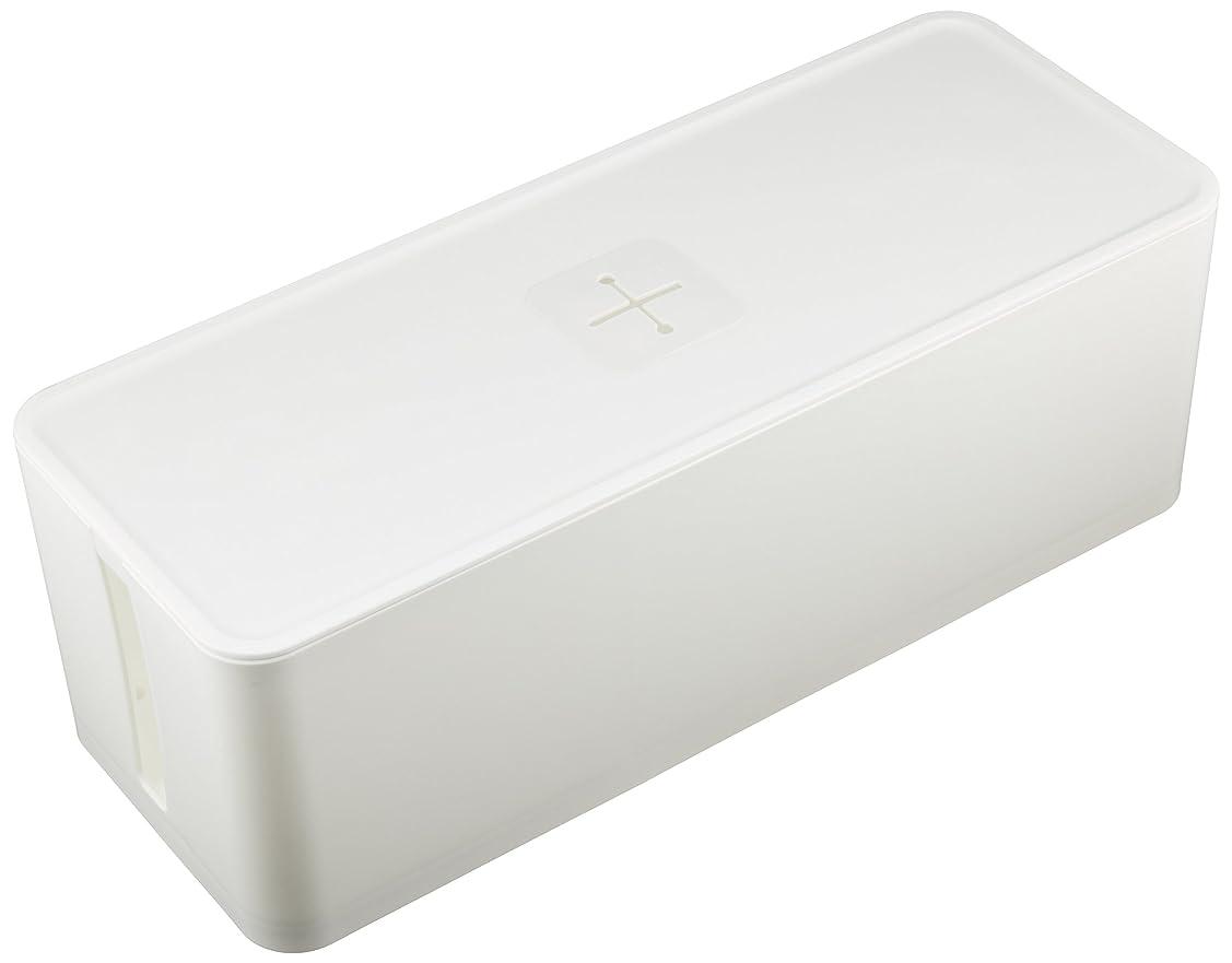 JEJ ケーブルボックス コード収納 ホワイト cb-WH
