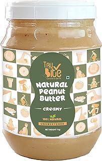 Trubite Natural Peanut Butter (Creamy) (2.5kg)| Unsweetened | 30g Protein | Non GMO | Gluten Free | Cholesterol Free