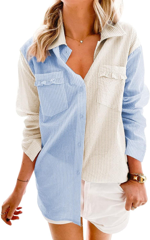 Asvivid Casual Leopard Denim Jacket for Women Long Sleeve Oversized Jean Jacket Boyfriend Trucker Jacket Coat