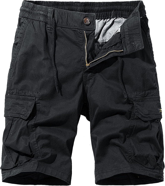 Zhang Q Spring Men Cotton Cargo Shorts Clothing Summer Casual Breeches Bermuda Fashion Beach Pants Los Cortos Short-Black2-27