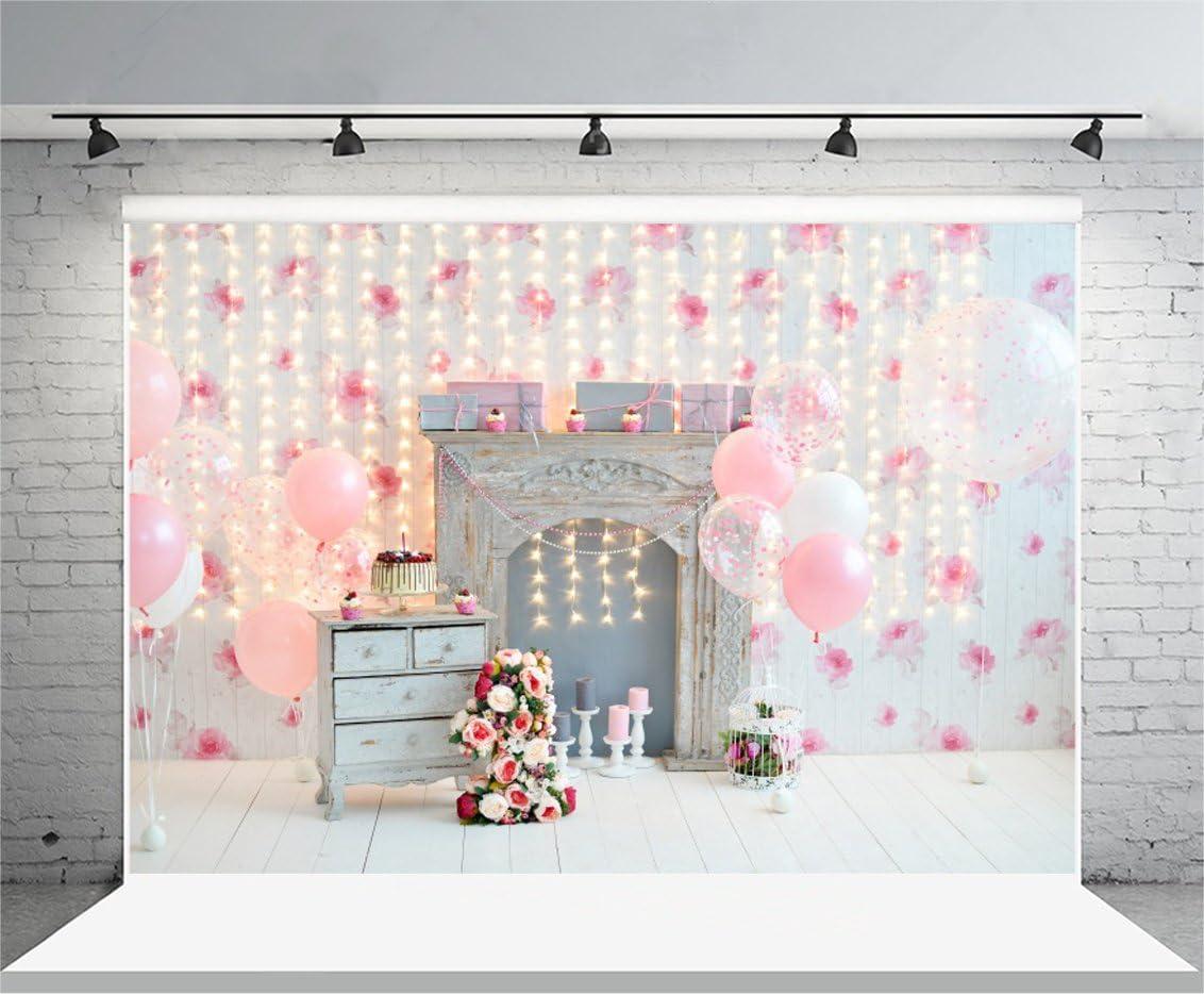 YongFoto 1,5x1m Vinilo Telon de Fondo Cumplea/ños 1 a/ño Hermosas Decoraciones Fondos Fotograficos Photo Booth Infantil Party Banner Ni/ña Ni/ño Photo Studio Props