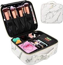 Marble Makeup Case Travel Makeup Bag Marble Cosmetic Bag Makeup Train Case for Women Brush Storage Box Organizer Holder wi...