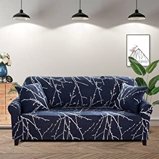 Lamberia Printed Sofa Cover Stretch Couch Cover Sofa Slipcovers for 3 Cushion Couch with Two Free Pillow Case (Tree Branch, Sofa 3 Seater)