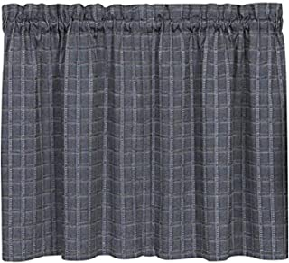 "Achim Home Furnishings, Grey Sydney Window Pair Curtain Tier, 58"" x 24"""