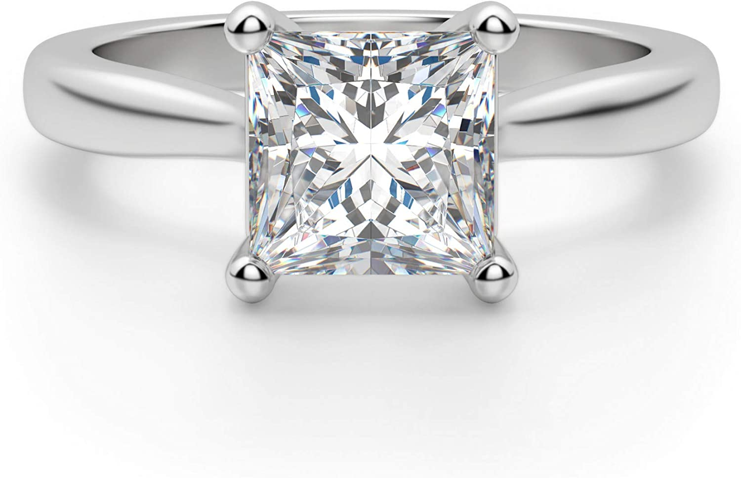 2CT Princess Cut Colorless Moissanite Challenge the lowest price of Japan ☆ Popular shop is the lowest price challenge Br Ring Wedding Engagement