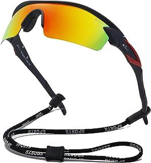 Bevi Polarized Sports Sunglasses TR90 Unbreakable Frame for Men Women Running Cycling Golf Baseball