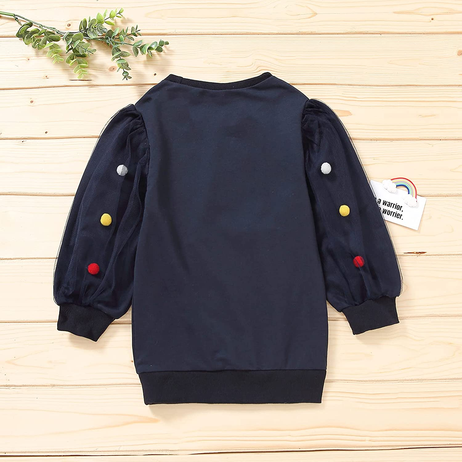 Toddler Girl Sweatshirt Dress Spring Fall Clothes Oversized Tops Outfit Kids Letter Printed Outwear Coat