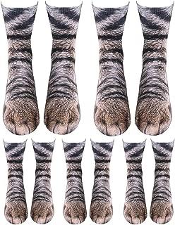 Animal Paw Socks Paw Print 3D Socks Novelty Animal Paws Crew Socks for Men Women Kids