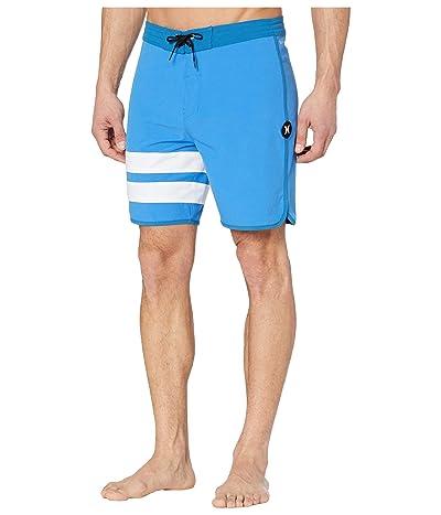 Hurley 18 Phantom Block Party Boardshorts (Pacific Blue) Men