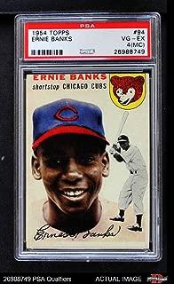 1954 Topps # 94 Ernie Banks Chicago Cubs (Baseball Card) PSA 2 - GOOD Cubs