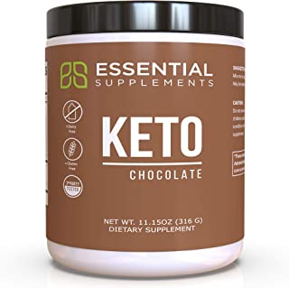 Essential Supplements® Exogenous Ketones Keto BHB Chocolate Powder for Ketogenic Diet | Supports Weight Loss, Energy, Focu...