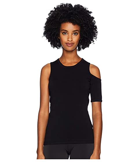 Cushnie Crew Neck Knit Top with Single Cold Shoulder and S