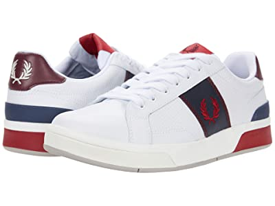Fred Perry B200 Perf Leather (White) Men