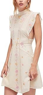 Free People Womens Riviera Embroidered Mesh Mini Dress
