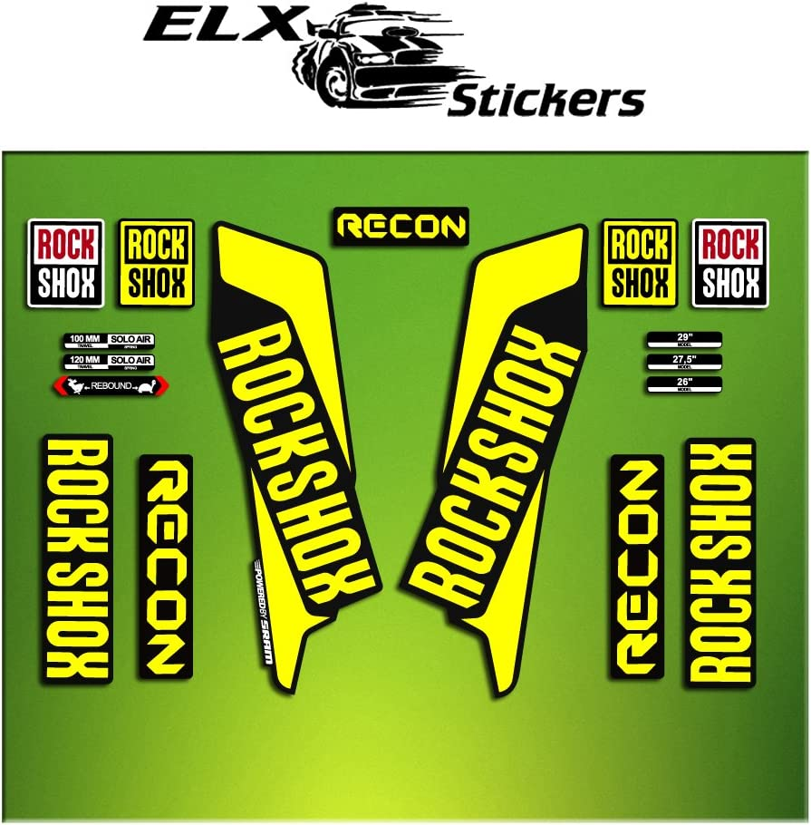 Rock Shox RECON 2014 Mountain Bike Cycling Decal Kit Sticker Adhesive Light Pink