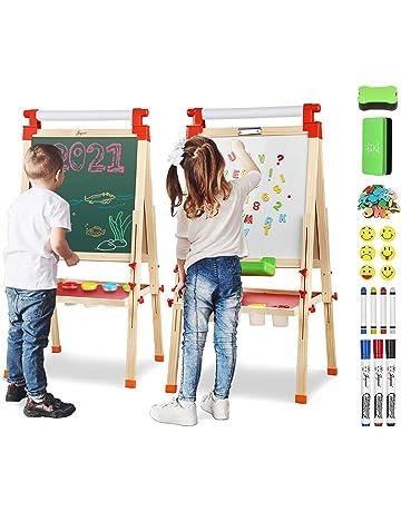 Joyooss Cavalletto per pittura e lavagna per bambini in legno
