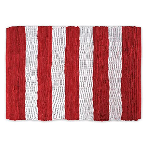Red And White Rug Amazoncom