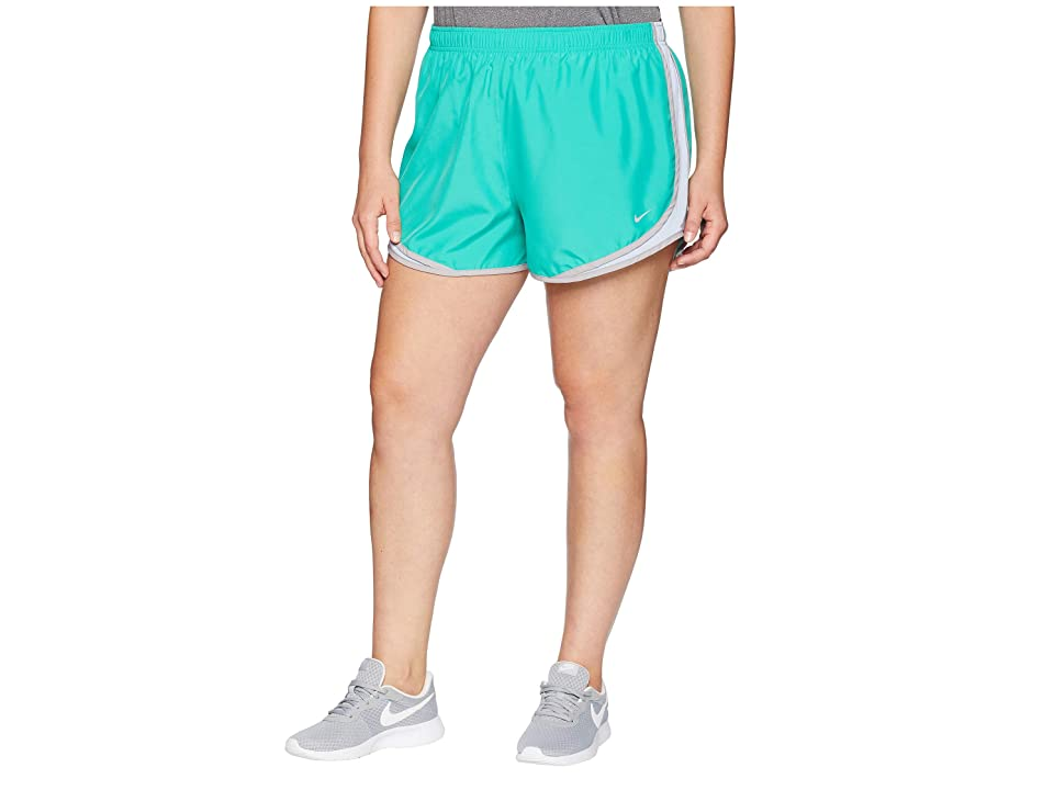 Nike Dry Tempo 3 Running Short (Size 1X-3X) (Kintetic Green/Royal Tint/Wolf Grey) Women