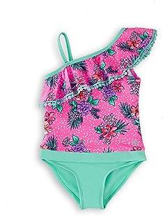 YOOJIA Kids Girls Tankini Swimsuit Sleeveless Racer Back Tops Short Bottoms Sets Bathing Suit Swimwear Outfits