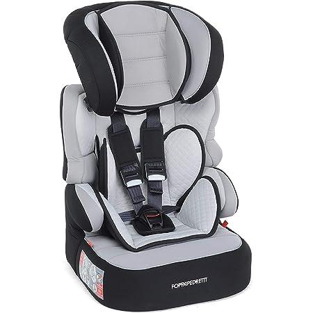 Foppapedretti Babyroad - Seggiolino Auto, Gruppo 1-2-3 (9-36 Kg) per Bambini da 9 Mesi a 12 Anni Circa, Grigio (Carbon)
