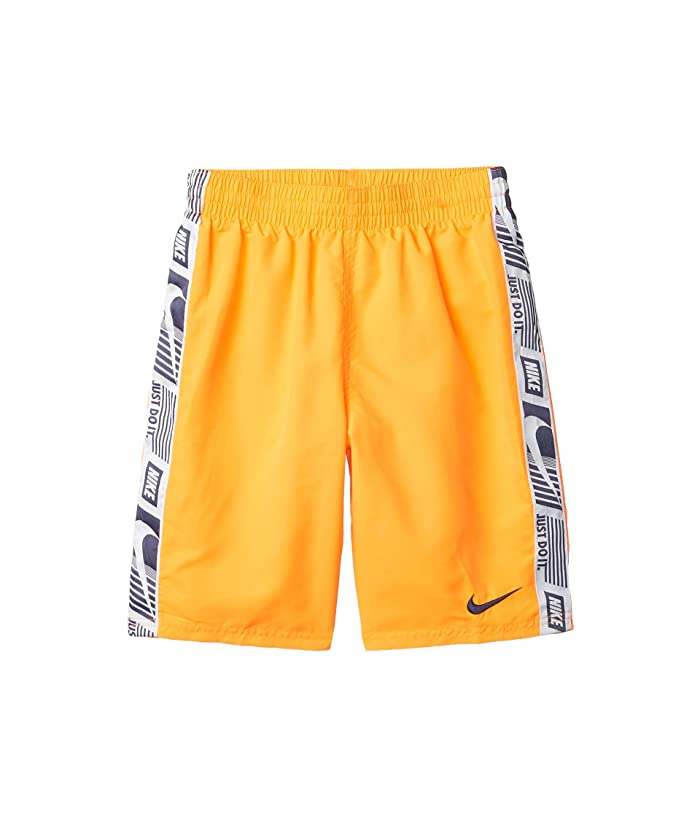 Nike Kids  8 Funfetti Racer Volley Shorts (Little Kids/Big Kids) (Total Orange) Boys Swimwear
