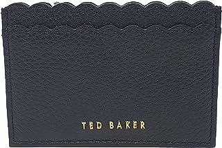 Ted Baker Vivaah Scalloped Credit Card Holder in Black Leather