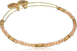 Alex and Ani Women's Zephyr Charm Bangle Pale Peach, Rafaelian Gold