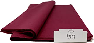 Burgundy Tissue Paper - 96 Sheets - 15 Inch x 20 Inch - for Gift Bags, Gift Wrapping, Flower, Party Decoration, Pom Poms - Premium Quality Made in United States