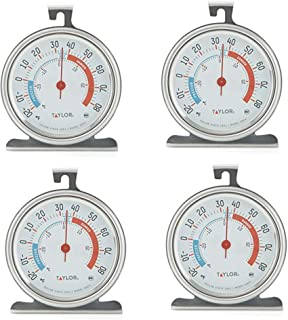 Taylor Classic Series Large Dial Fridge/Freezer Thermometer - 4 Pack