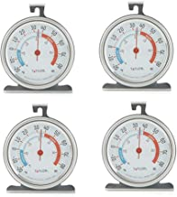 Taylor Classic Series Large Dial Fridge/Freezer Thermometer (4 Pack)