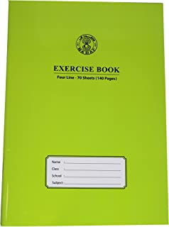 SADAF EXERCISE BOOK A4 SIZE FOUR LINE 70 SHEETS (140PAGES)