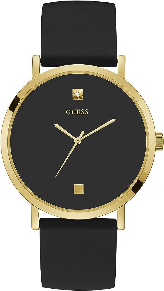 Guess ,orologio per uomo, cassa: acciaio inossidabile,cinturino in silicone W1264G1