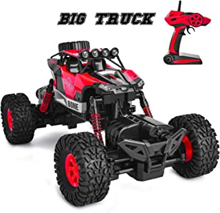 GotechoD Remote Control Cars 4WD RC Cars 1/16 RC Crawler Truck Monster Vehicle Waterproof 4x4 RC Truck Offroad RC Racing Car Hobby Boys Toy Cars for 6-15 Years Old Kids Boys Xmas Gift