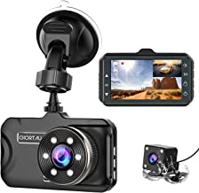 Dash Cam Front and Rear CHORTAU Dual Dash Cam 3 inch Dashboard Camera Full HD 170° Wide..