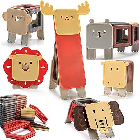 nicknack Animal Bloques de construcción magnéticos, 83PCS Niños 3D Bloques de construcción magnéticos Juegos de juguetes Regalo para niños de 3 4 5 6 7 años Niñas
