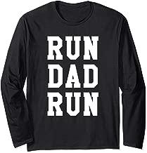 Funny Run Dad Marathon 5k Family Race Day Gift Long Sleeve T-Shirt