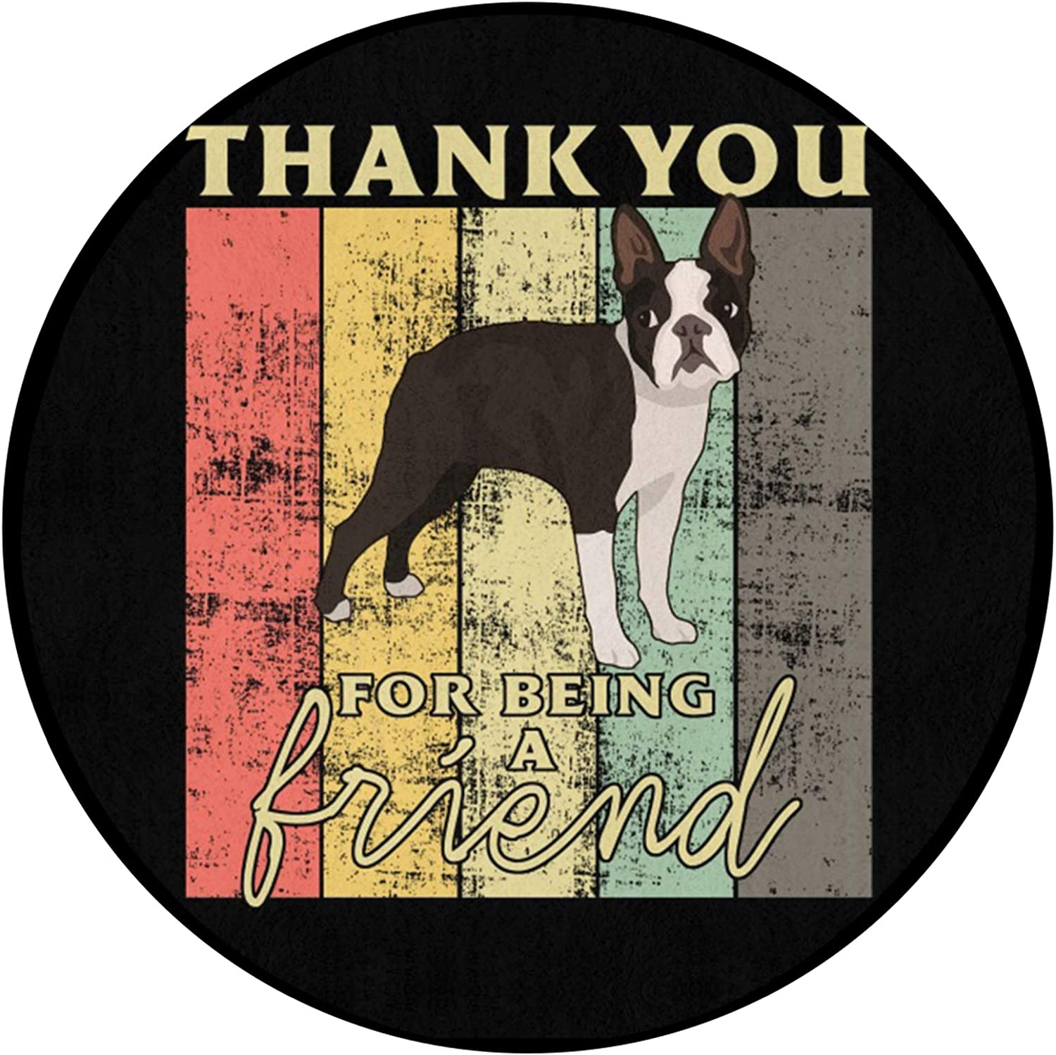 FRSH MNT Thank You for Being Friend Selling Round Non-Slip Topics on TV A Mat Durable