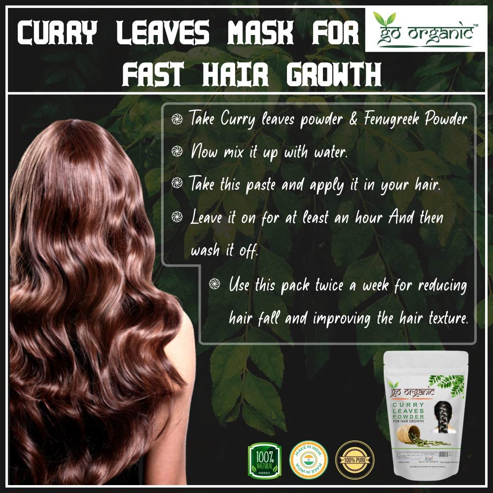 Curry for hair of uses leaves 9 USEFUL