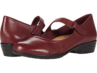 Trotters Rona (Dark Red Leather) Women