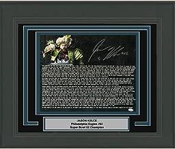 Framed Autographed/Signed Jason Kelce Super Bowl Parade Speech Transcript Mummers Philadelphia Eagles 16x20 Football Photo JSA COA